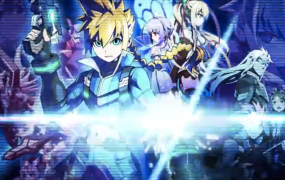 Artwork from Inti Create's Azure Striker Gunvolt.
