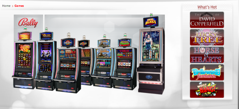 Some Bally casino machines.