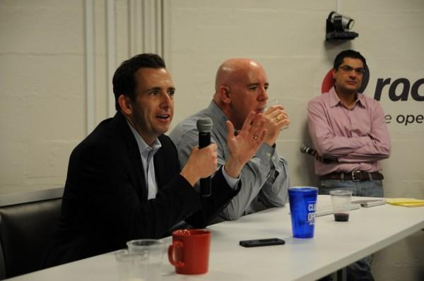 Ben Golub, left, chief executive of Docker.