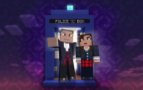 Doctor Who and his companion on Xbox 360.