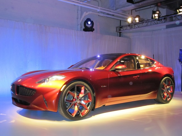 Fisker Atlantic concept unveiling before New York Auto Show, April 2012.