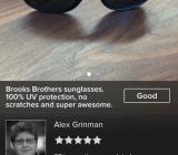 Using Classy to dump those Brooks Brothers sunglasses
