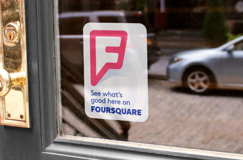 The new Foursquare logo in action