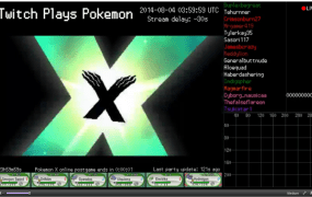 The last screen from Twitch beating Pokémon X for 3DS.
