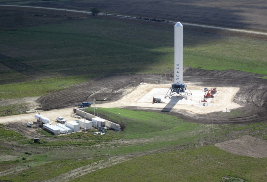 The SpaceX rocket development lab in McGregor, Texas.
