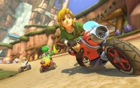 Link makes his Mario Kart debut.