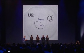 Apple event with U2