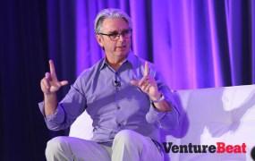 Former EA CEO John Riccitiello talking at the GamesBeat 2014 conference.