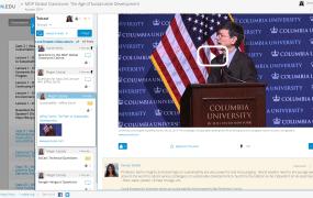 Jeffrey Sachs' course on the Edcast platform