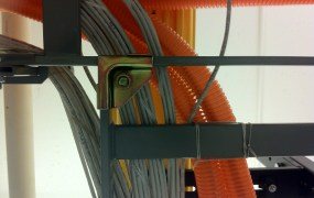 Bits move through Ethernet cables inside a Digital Realty data center in San Francisco.