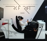 The Lexus RC F simulator, using the Oculus DK2