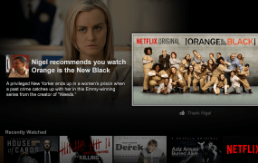 Netflix's newest feature lets you share movie recommendations with Facebook friends.