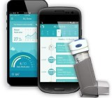 Propeller Health's device attaches to the end of an inhaler.