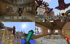 Multiplayer Minecraft on PS4.