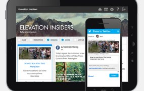 SocialChorus' example screens for a fictional athletic brand