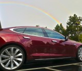Somewhere over the rainbow, there's a Tesla Model S. And a pile of cash.