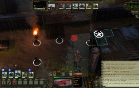A typical combat setup in Wasteland 2