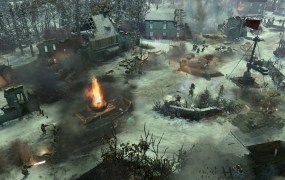 Company of Heroes 2: Ardennes Assault tank battle.