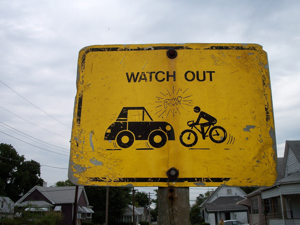 Watch out: Collision ahead.