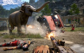 Elephants can run amok in Far Cry 4, but you won't get a wide view unless you buy the game.