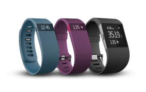 Fitbit's new Charge, Charge HR, and Surge fitness wearables.
