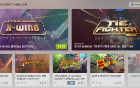 A plethora of LucasArts games on GOG.com.