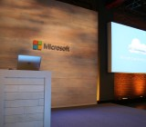 At the Microsoft cloud press conference in San Francisco on Oct. 20.