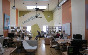 The Socialcast office in San Francisco in 2010.