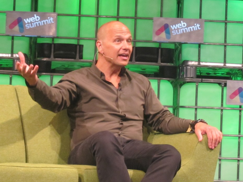 Tony Fadell, CEO of Nest, speaking on stage at the Web Summit in Dublin.