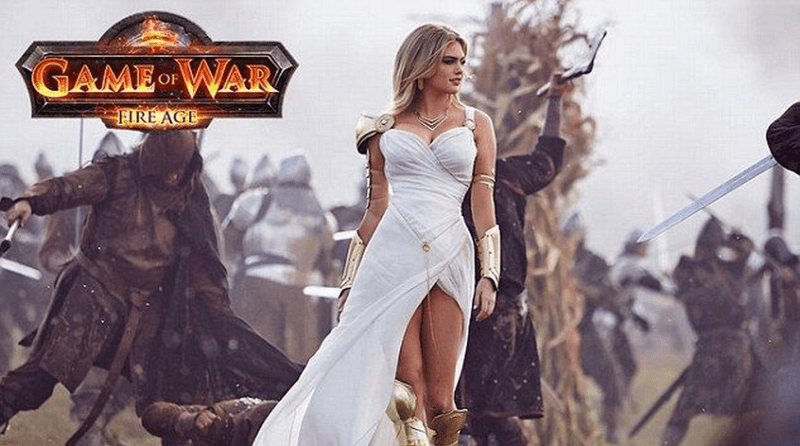 Kate Upton in Game of War: Fire Age commercial.