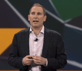 Amazon Web Services senior vice president Andy Jassy speaks at the public cloud's re:Invent conference in Las Vegas on Nov. 12.