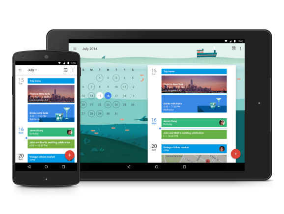 Google Calendar Schedule view