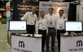 Metric Insights' Mike Smitheman, Adam Shamouel, Steve Mock, and Marius Moscovici at the 2014 Tableau Conference in Seattle in September.