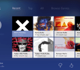 A screenshot of Pandora's new native Xbox One app.