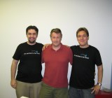 Y Combinator founder Paul Graham, middle.