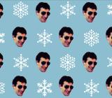 Gift Wrap My Face pattern starring VentureBeat's Jordan Novet
