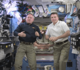 NASA's Barry Wilmore and Terry Virts will wish the world 16 different New Year's celebrations today.
