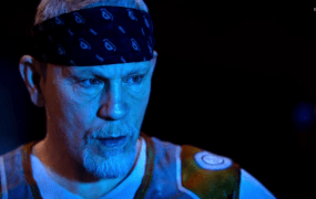 Malkovich in all his glory in the Exo Zombies mode in Call of Duty: Advance Warfare's Havoc DLC.