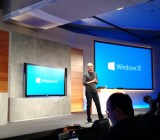 Microsoft chief executive Satya Nadella speaks at a Microsoft Windows press event at company headquarters in Redmond, Wash., on Jan. 21.