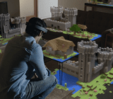 Microsoft's HoloLens in action.