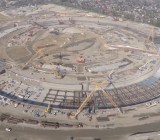 A drone shot this video of construction on the new Apple campus in Cupertino.