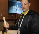 Jason Fass, CEO of Zepp, at CES 2015
