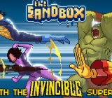 The Sandbox with Invincible characters.