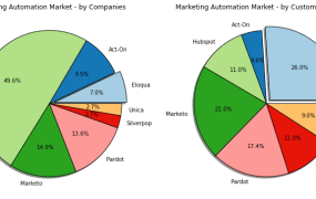 Marketing automation market share by clients vs by client revenue