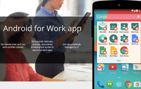 The Android for Work app.