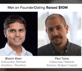 One of the happy pairings started on FounderDating