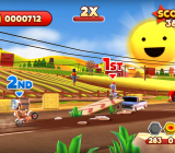 Joe Danger features colorful and lively levels.