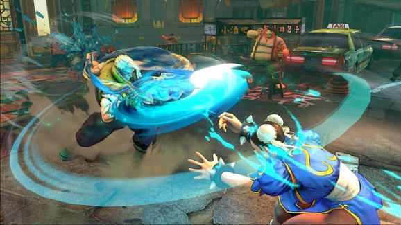A match in Street Fighter V.