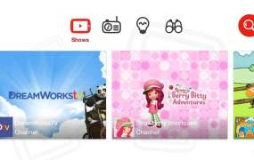 YouTube Kids' presentation is clean.