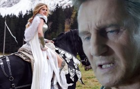 Liam Neeson's mean mug is drawing a big audience on YouTube.